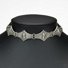 Tibetan Silver Plated Carved Gothic Choker Chunky Necklace Punk Jewelry Gift