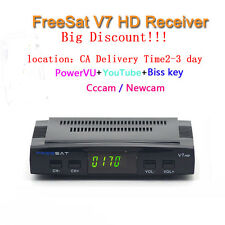 DVB-S2 Freesat V7 Satellite Receiver Decoder Full HD 1080P Support Powervu