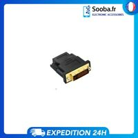 ADAPTATEUR HDMI FEMELLE DVI MALE LCD ECRAN VIDEO PC TV LED 24+1 RACCORD