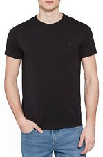 Timberland Retro Plain Small Tree Logo T-shirt Mens Crew Neck Cotton Tee Black