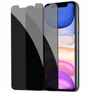For iPhone 13 12 mini 11 Pro X XS Max XR Tempered Glass Privacy Screen Protector
