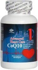 Coq10 Advanced Heart Care w/ Fish Oil EPA DHA Flaxseed Lecithin(120 Softgels)