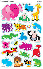 160 Awesome Animals SuperShapes Teacher Reward Stickers - Large