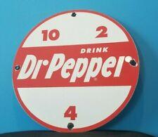VINTAGE DR PEPPER PORCELAIN GAS SODA BEVERAGE BOTTLES GENERAL STORE MARKET SIGN