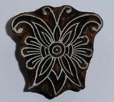Mariposa Sello 5.5cm x 5.5cm Indio Tallado A Mano Madera Bloque De Impresión