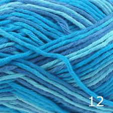 Rico Creative Cotton Aran Print Knitting & Crochet Yarn - Turquoise Mix 012