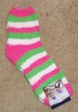 NEW Women's Super Soft Fuzzy Socks Slippers   Pink Green White New