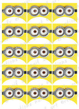 15 FRENCH NAIL TIPS *MINIONS Glasses* WATERSLIDE NAIL ART DECALS Nail Decal