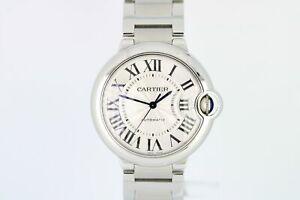 Cartier Ballon Bleu 36mm Stainless Steel Silver Automatic Watch 3284 W69200246