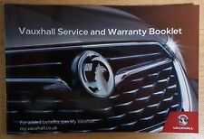 GENUINE VAUXHALL SERVICE BOOK PETROL AND DIESEL NO DUPLICATE BLANK 2017/2018 #i