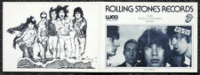 ROLLING STONES REPRO 1976 WEA RECORDS BLACK AND BLUE LAUNCH PARTY INVITE .NOT CD