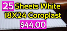 "25pc 18""x24"" White Plastic Coroplast Blanks 4mm"
