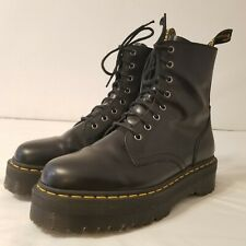 Doc Martens Jadon Platform 8-Eye Boot Black Leather Womens Size 11 EUC