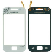 Samsung Galaxy ACE S5830i La Fleur Touchscreen Scheibe Glas weiß