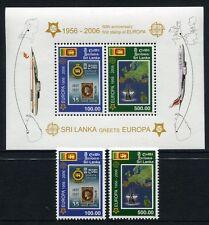 Sri Lanka 2006 50 Jahre Europamarken CEPT 1525-26 + Block 102 Postfrisch MNH