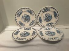 A Set of Four Mason's Fruit Basket Multi Colored Blue  Luncheon Plates