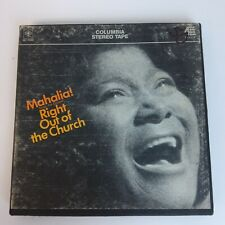 Vt Reel To Reel Tape Record Mahalia Sings The Gospel Right Out Of Church