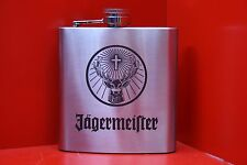 6oz Stainless Steel Hip Flask Jagermeister Logo