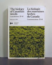 The Biology of Canadian Weeds, Contributions 33-61, Agriculture Canada