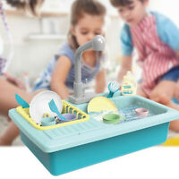 1 Sets Simulation Dishwasher Sink Pretend Play Kitchen Toys Kids Puzzle Kitchen