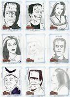 Munsters (2005) Autograph Sketch Card Lot 9 Cards