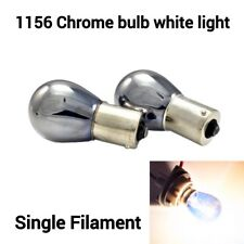 S25 1156 180° BA15S 7506 3497 White Chrome Bulb Rear Signal Light B1 for V W U