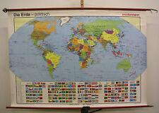 Schulwandkarte hermosas viejo mundo mapa político 140x99cm vintage World Map ~ 1992