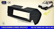 Mascherina Autoradio Fiat Panda 750 nero per stereo audio auto specifica radio