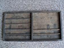 Vintage Letterpress Tray, Wooden