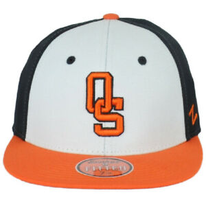 NCAA Zephyr Oklahoma State Cowboys Three Tone Flat Bill Fitted Size Hat Cap