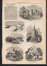 1873 THE ISLE OF THANET LEAVES FROM A SKETCH BOOK MARGATE KENT