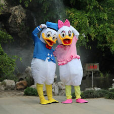 Donald and Daisy Duck Adult Mascot Costume Party Clothing Fancy Dress Set of 2