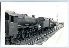 BR Loco 45025 being piloted by 45672 at Penrith 1960 Railway Photo