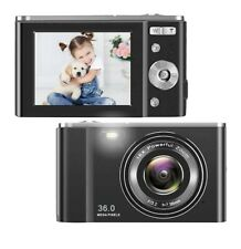 HD Digital Camera, 1080P Vlogging LCD Mini Camera with 16X Zoom 36MP Digital...