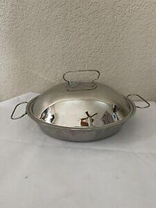 Cuisinart Stainless Steel 2Qt Pennsylvania Dutch Oval Roasting Pan lid C59-29D