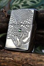 Zippo Lighter - Snake Eyes - Armor Case - Swarovski Crystal - Python - European