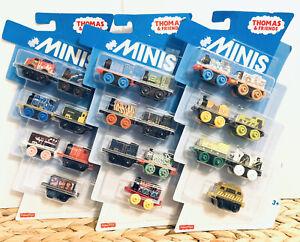 NEW 3 Pack THOMAS The Tank Engine Train Minis Fisher Price Set 21 Trains