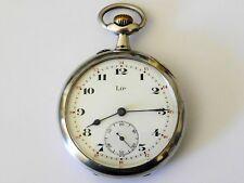 montre gousset argent LIP  XL 86 gramme +-1910  fonctionne  + écrin superbe uhr