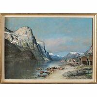 Thorvald Rygaard (1872-1939) Norwegen Norwegische Fjordlandschaft