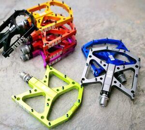 BIGDOG MTB Road Bike Steel Pedal Mountain Bicycle 3 Bearing Flat-Platform Pedals