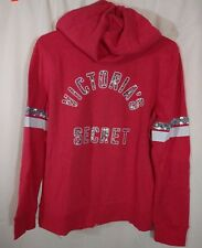 Victoria's Secret Supermodel Essentials Sequin Bling Angel Hoodie Medium NWT Red