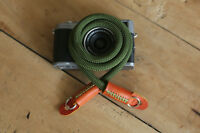 Windmup COOL Green Climbing rope 10mm dyeing leather handmade Camera strap