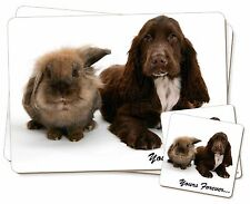 Animals 'Yours Forever' Sentiment Twin 2x Placemats+2x Coasters Set i, AD-SC2YPC