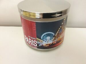 Bath & Body Works 3 Wick Candle Paris Cafe Bouquet New Rare