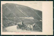Napoli città Gita sul Vesuvio Carrozza cartolina VK3456