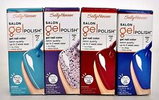 (Lot of 4) Sally Hansen SALON Gel Polish Step 2 Gel Nail Color Salon Quality
