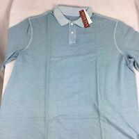 Men's Merona aqua blue Ultimate Polo Classic Fit  Shirt Size Size XXXLT