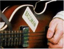 Static Cling Accurate BASSMAN Sticker Decal Hofner McCartney Get Back Beatles
