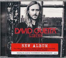 David Guetta Listen CD '14 (original promo w/ hype sticker) (never played)