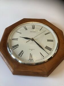 Seiko Wooden Wall Clock
